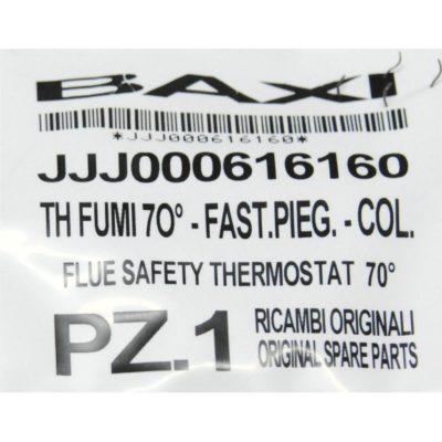 Термостат предохранительный отходящих газов 70 С (датчик тяги) JJJ616160